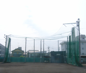 京都学園中学高等学校グラウンドバックネット施工前
