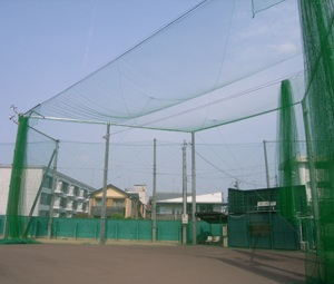 京都学園中学高等学校グラウンドバックネット改修