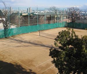 神戸高等学校テニスコート整備