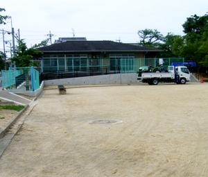 城南荘児童公園グラウンド補修着手前