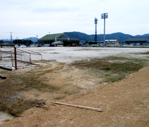 高月運動公園グラウンド施工前