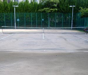 神戸女学院テニスコート施工前