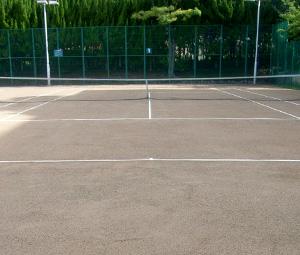 神戸女学院テニスコート完成